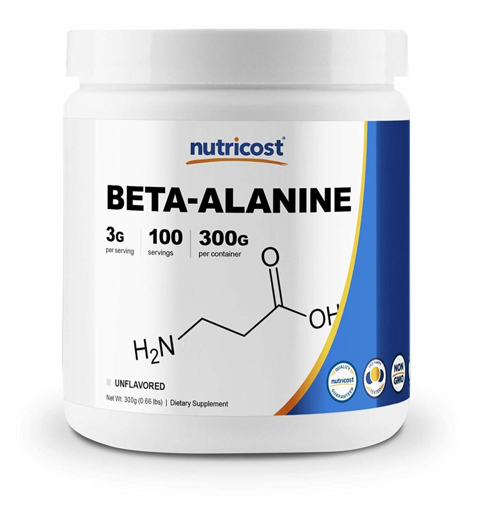 Beta-alanine powder you can find at Amazon.com