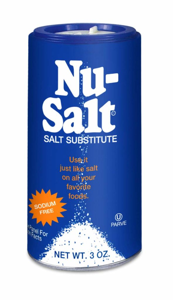 Nu-salt is a sodium-free salt loaded with potassium, you can find it on Amazon