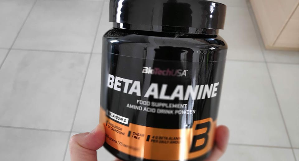 Beta-Alanine from BioTech USA I use in my pre-workouts