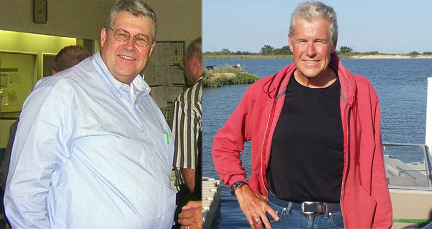 Dr. Paul Mabry before and after low-carb and zero-carb diet
